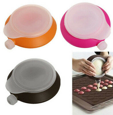 3 Nozzle Macaron Baking Decorating Pen Pastry Cream Cake Muffin Silicone Set Kit