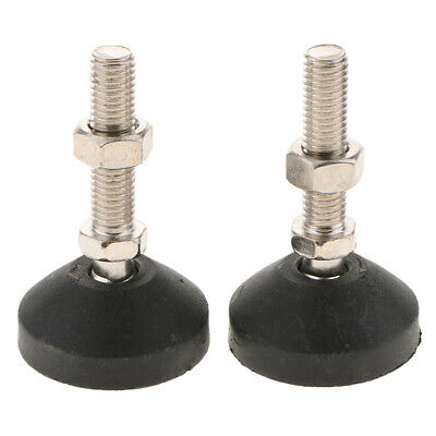 2xCarbon Steel Adjustable Furniture Leveler Leveling Feet 50-M12x50mm