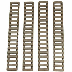 Outdoor Tools Pack Of 4 Rail Ladder Cover Fire Resistent 7 Weaver/picatinny Tan New In Many Styles