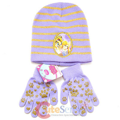 54 cm, Navy Blue Disney Tangled Rapunzel Winter Hat Gloves Set