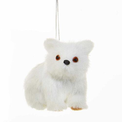 Plush White Polar Bears /& Fox Ornament