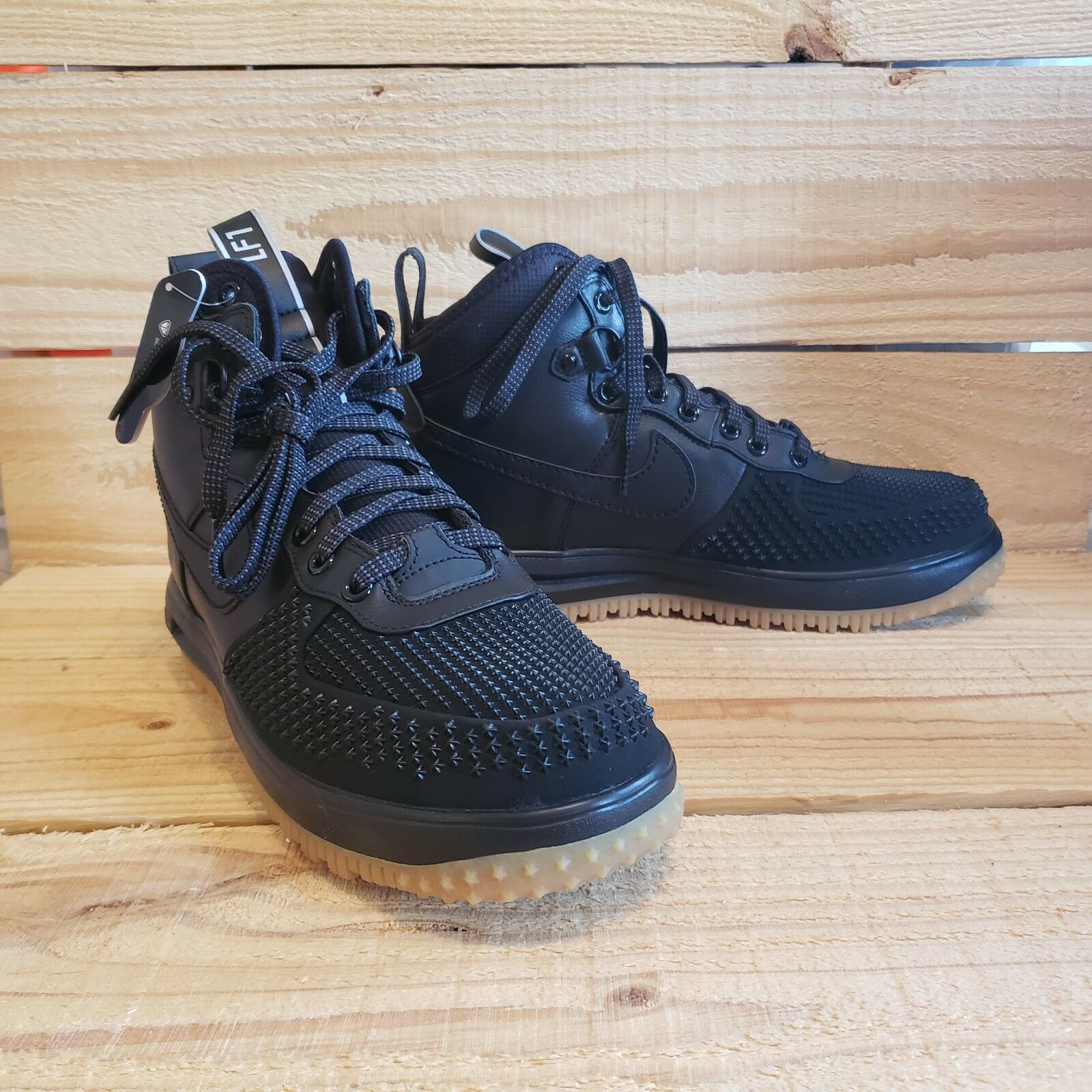 2083adaa06 Nike Lunar Air Force 1 Duckboot AF1 Gum 805899 003 Water Boot Size Black  Silver