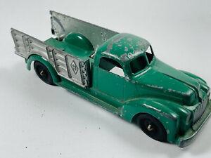 Vintage-Fundido-Diecast-Verde-Hubley-Kiddie-Juguete-Granja-estaca-del-grano-Camion