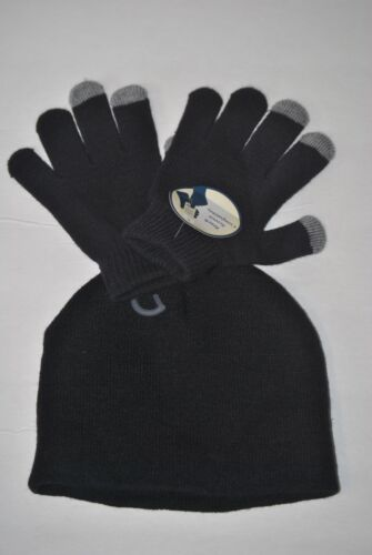 Boy/'s Red One Size 4-7 Black or Grey Knit Beanie Hat /& Glove Set