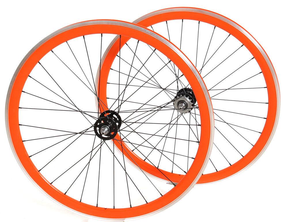 28  Bahnrad Laufradsatz Novatec Fixie sw   Fixie Aero orange 322 -  LRS150000022