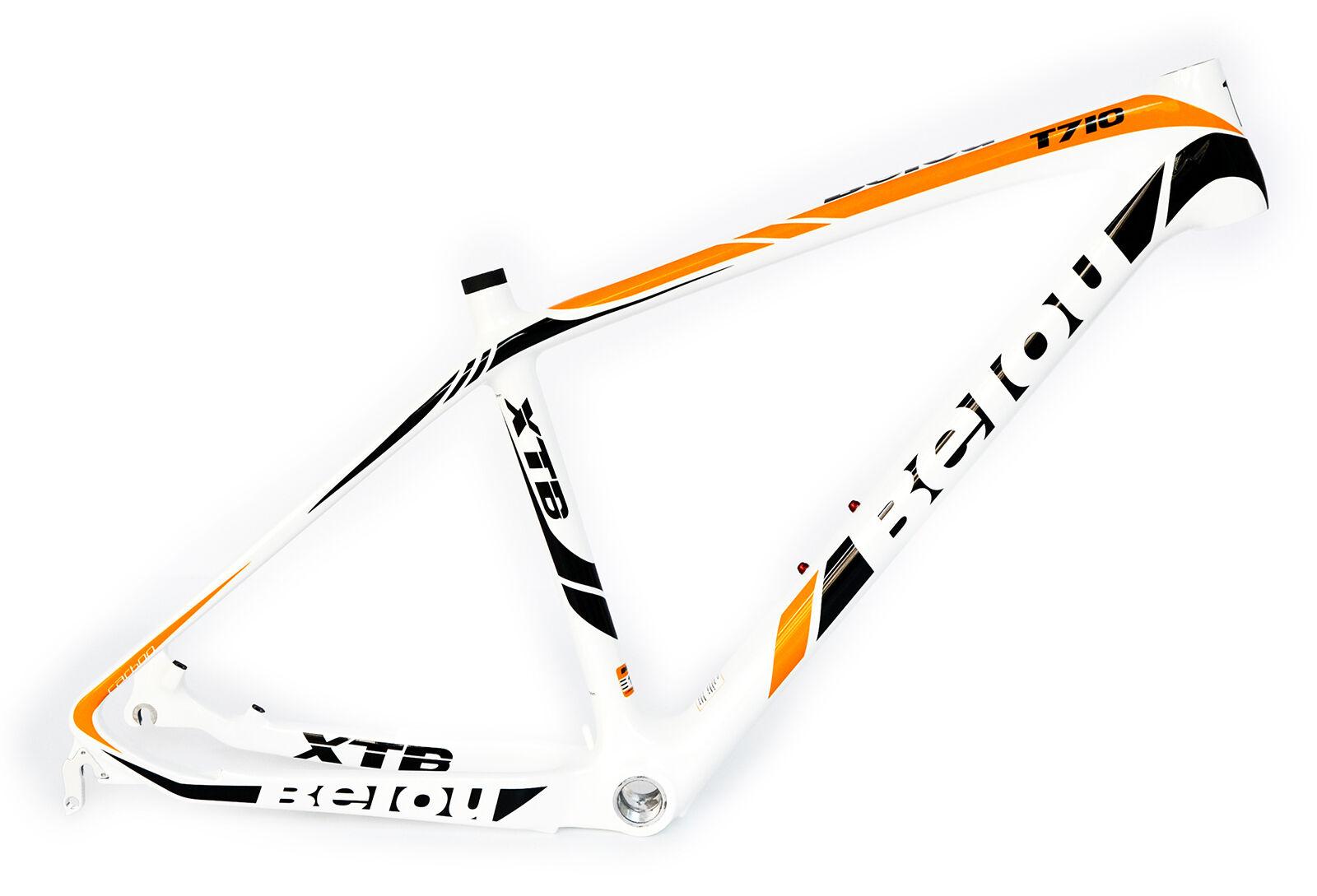 BEIOU 3k Carbon Fiber Mountain Bike Frame Ultralight 26  Glossy Unibody B018B2