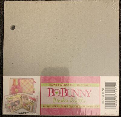 Bo Bunny Bare Naked Chipboard Binder Refill 6x6 - Walmart