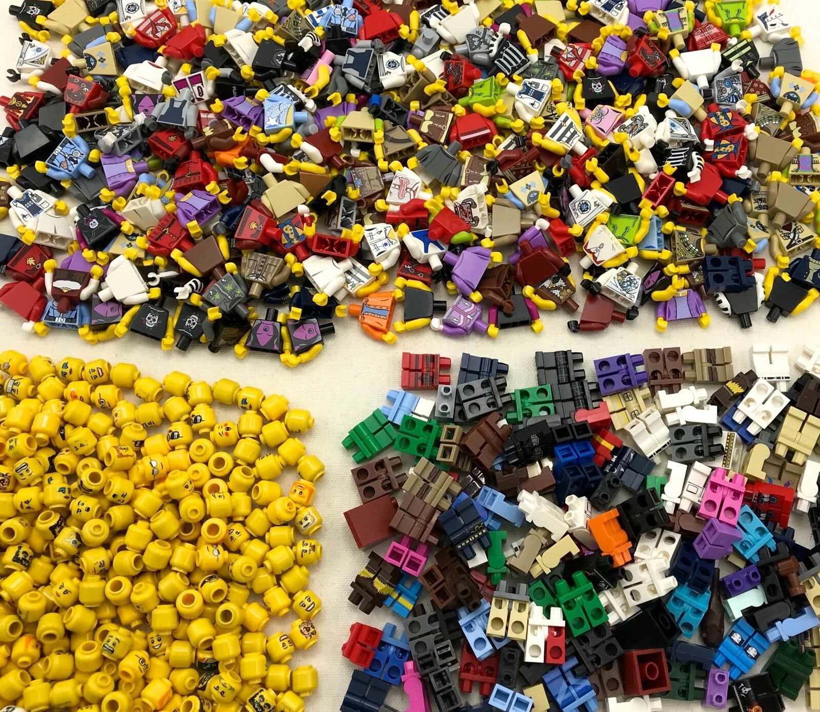 LEGO LOT OF 500 NEW LEGO MINIFIGURES TOWN CITY SERIES BOY GIRL FIGURE PIECES