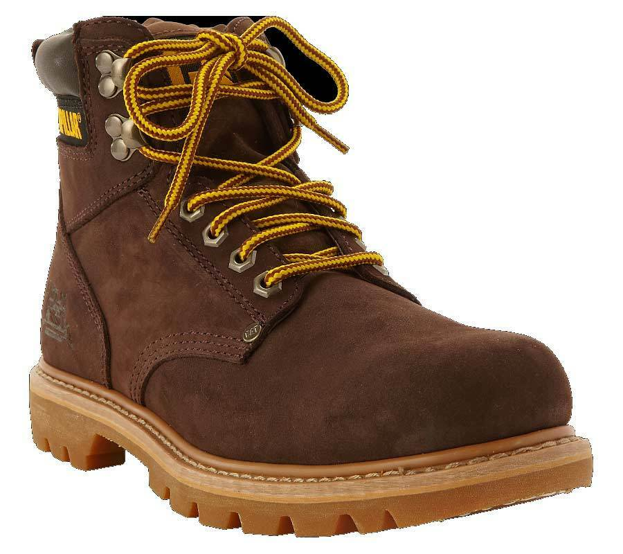 Cat caterpillar zapatos botas cuero genuino chocolate nuevo top oferta
