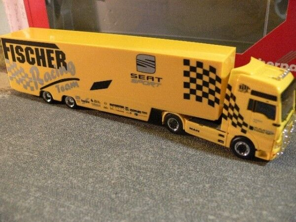 1 87 HERPA man tga xxl Fischer racing seat valise sz 038102