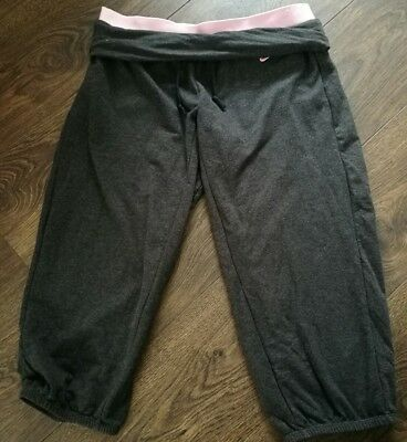 Activewear Bottoms Official Website Ladies Nike Grey Three Quarther Lenght Sports Pants Size S Activewear