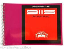 für den , Porsche 911 S, Modelljahr 69  Betriebsanleitung Bedienungsanleitung