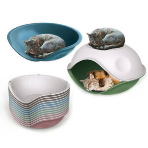 Blue-Waterproof-Outdoor-Plastic-Shelter-Pet-Cat-Dog-Bed-House-Kennel-Crate