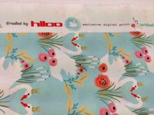 """Au Mètre à partir de 0,5 m: Hilco POPELINE /""""Swan Lake/"""" € 9,69//qm Coton-Pression 155 cm br,"""