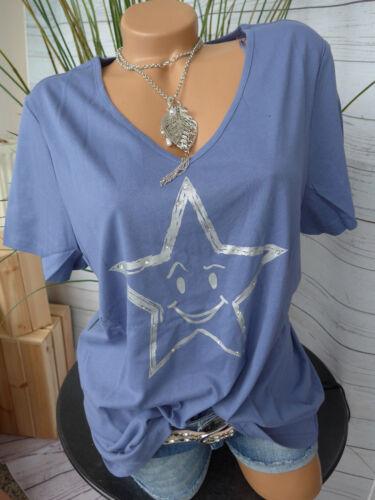 NEU 40//42-44//46 Kurzarm mit Stern und Pailletten 822 Sheego Shirt Tunika Gr