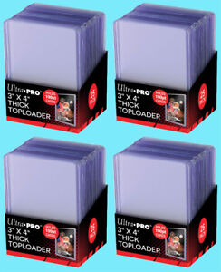 100-Ultra-Pro-3x4-100PT-THICK-TOPLOADERS-NEW-Rigid-Hard-Trading-Card-Sleeves