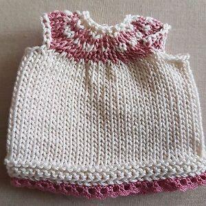 Knitting-Dress-For-Approx-4-11-16-5-1-2in-Bears-Glamorous-o-Handarbeit