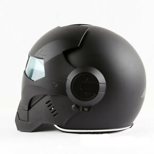 DOT-Black-Iron-Masei-610-Motorbike-Capacete-Casco-Helmet-Motorcycle-Man-Helmets