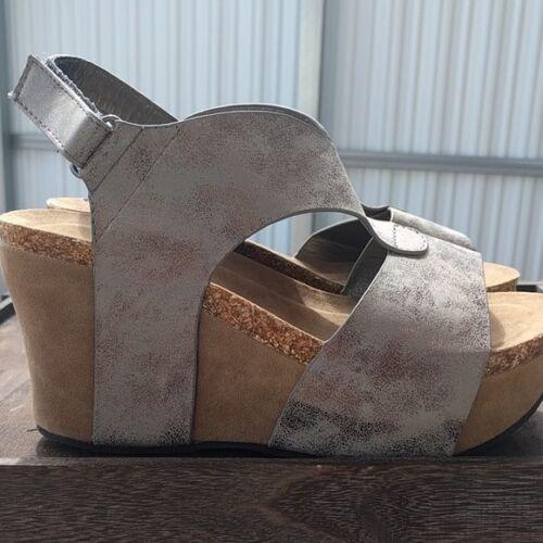Chaussures Femme Wedge Sandales Plateforme Talon étain Vegan Cuir Pierre Dumas