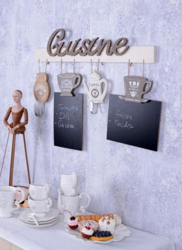 Küchenleiste Handtuchhalter /& Kreidetafel Memoboard im Landhausstil