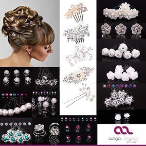 Brautschmuck haare perlen  Haarnadeln Hochzeit Curlies Haarschmuck Perlen Set Brautschmuck ...