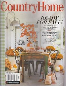 Image Is Loading Country Home Fall 2018 Volume 39 Number 3