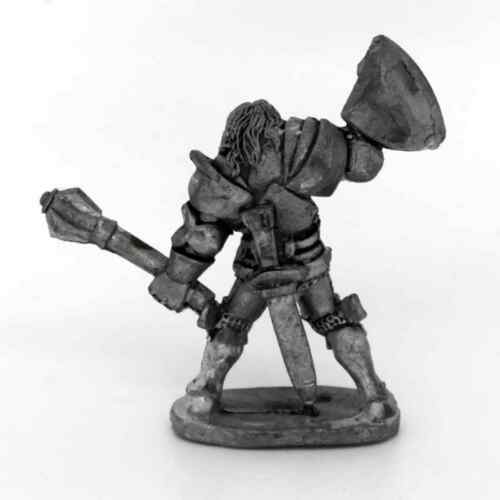 Medieval Knight with mace Warhammer Fantasy Armies 28mm Unpainted Wargames