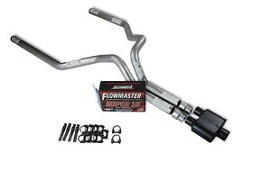 """Ford F150 Truck 15-18 2.5/"""" Dual Exhaust Kits Flowmaster Super 10 Black Tip"""