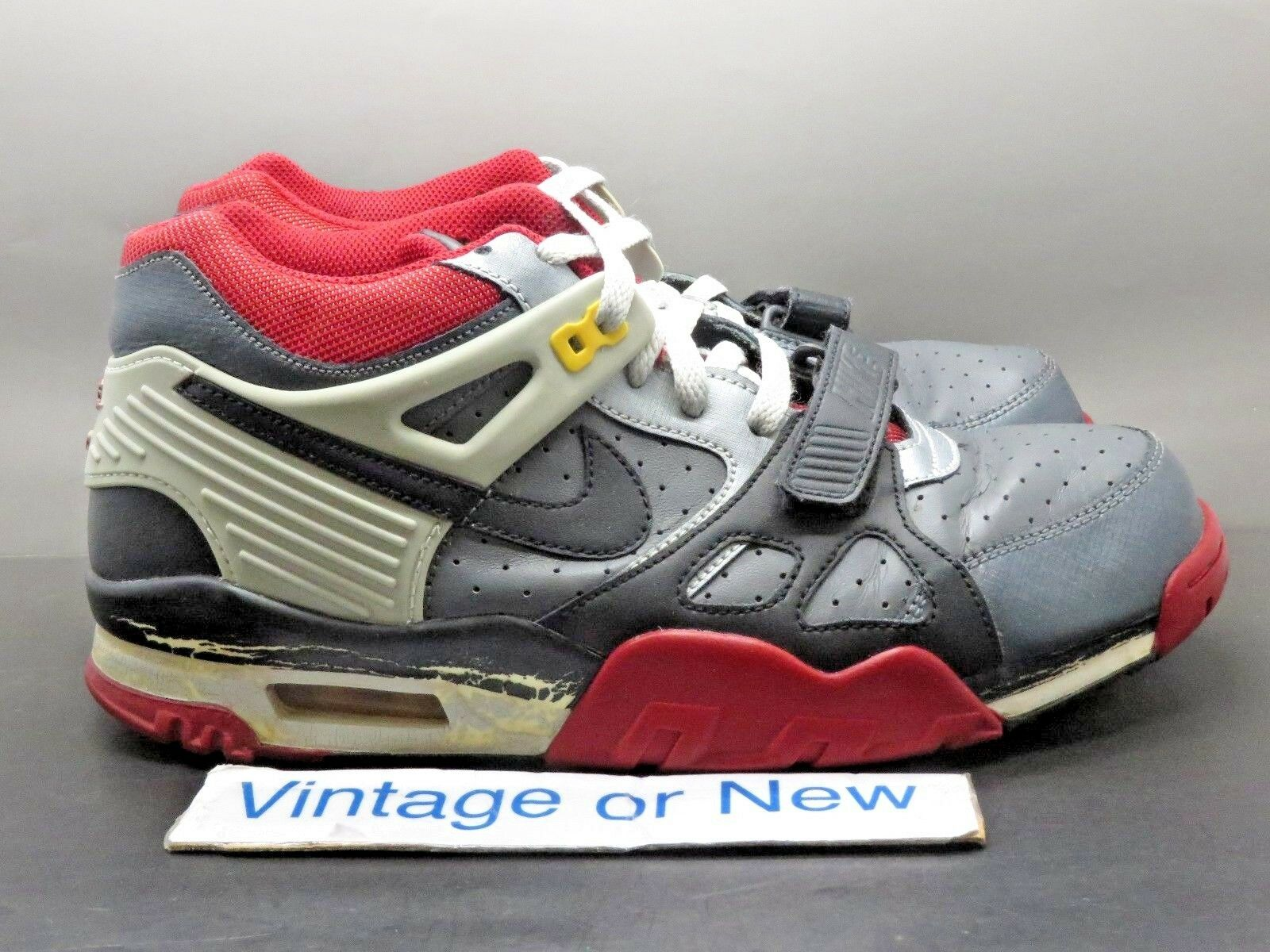 Nike air trainer 3 iii grigio scuro nero, grigio - rosso neutro bo jackson 2009 sz - 9