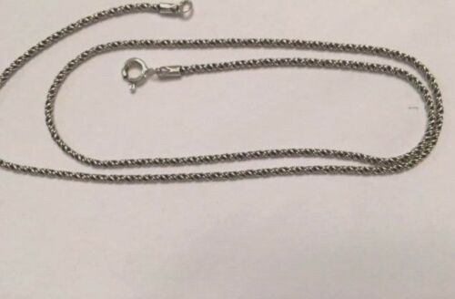 Bali Rope 1.5 mm Oxidized Sterling Silver Chain  .925 Pure Silver