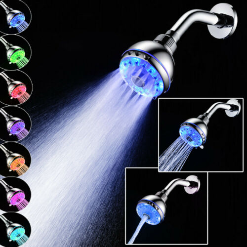 "6/"" Adjustable Round Rainfal Sprayerl Top High Pressure Bathroom Shower Head"