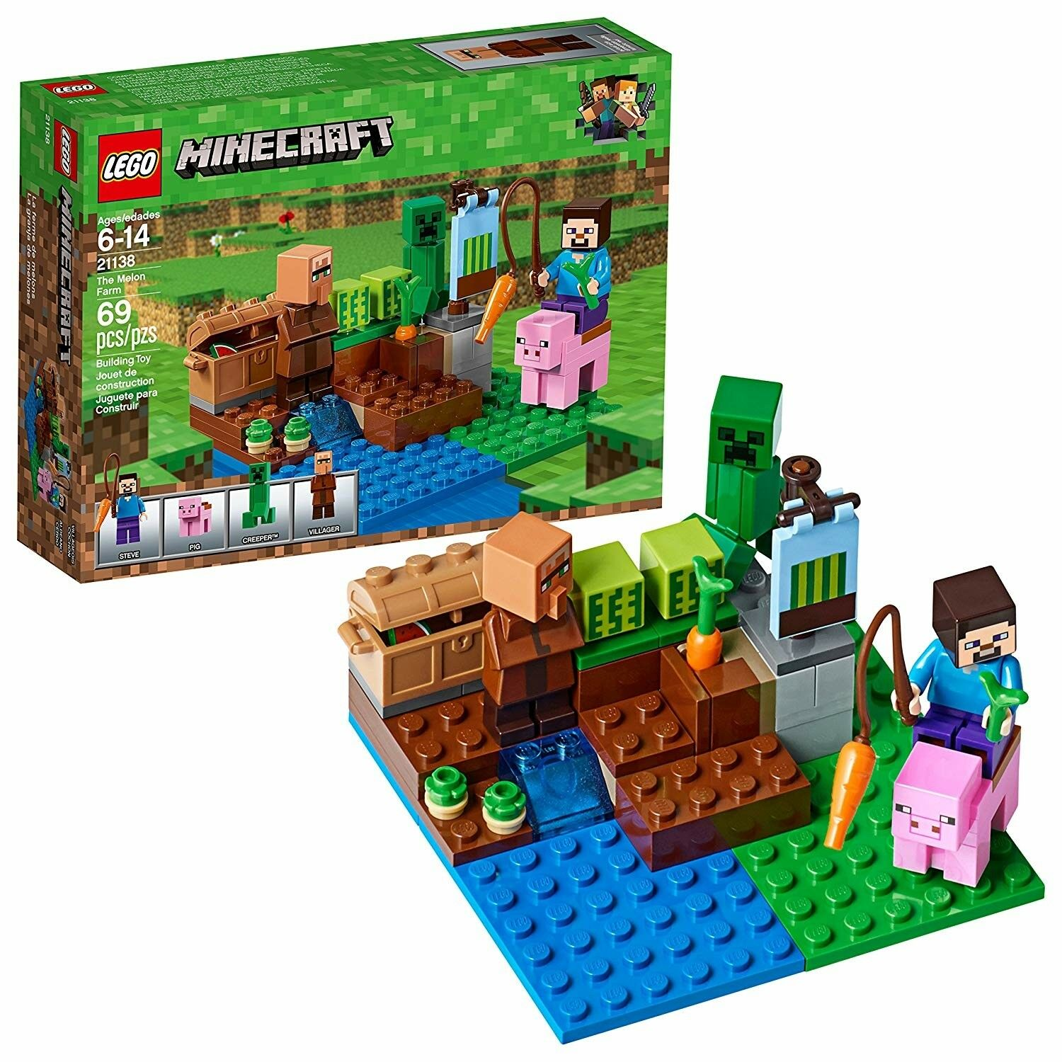 LEGO Minecraft the Melon Farm 21138 Building Kit Minifigures Set Box Sealed New