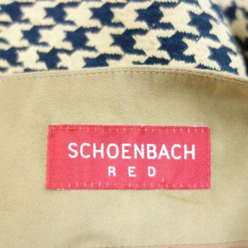 Seide Rock 40 Bettina Pepita Damen Schoenbach Schwarz Beige Neu Gr Muster 8OXnPk0w