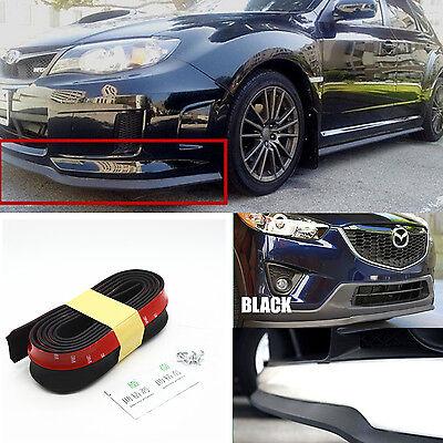 """98/"""" Black Car Front Bumper Lip Splitter Spoiler Chin Lip Skirt Protector For VW"""
