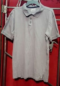 Men-039-s-Champs-Sports-Gray-Polo-Shirt-Short-Sleeve-Size-L-Large
