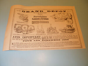 PUBLICITE-1888-GRAND-DEPOT-DE-BOURGEOIS-PORCELAINES-FAIENCES-CRISTAUX