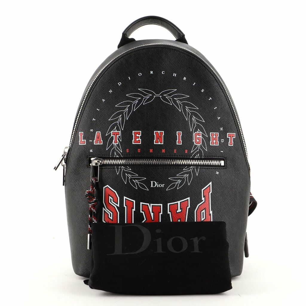 Christian Dior Homme Backpack Printed Coated Canvas Small    eBay