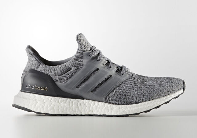 80de61968 Adidas Ultra Boost 3.0 size 10. Heather Grey White. BA8849. Mystery Grey