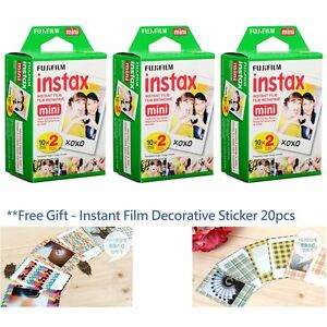 Fuji Fujifilm Instax mini film White 60 Photos for Mini 8 7S 90 50 camera FR