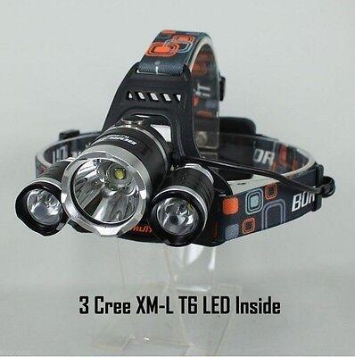Trail CREE 3 XM-L T6 5000LM LED Headlamp Head light Torch Head Lamp Flashlight
