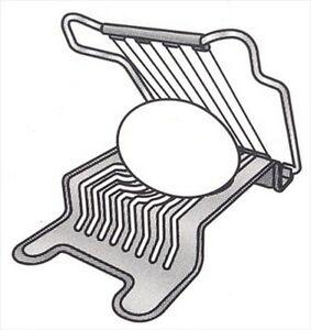 JapanBargain Japanese Stainless Steel Egg Slicer Cutter #7527 Egg Slicer