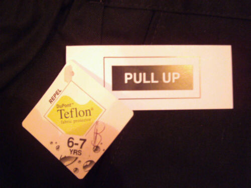 BOYS QUALITY PULL-UP TROUSERS-BLACK//GREY-BY TEFLON SCHOOL UNIFORM 18 MONTH-7 YRS