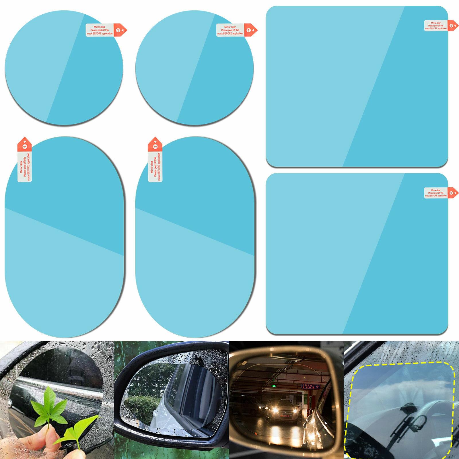 2PCS Car Rearview Mirror Sticker Film Waterproof Anti-Fog Rain-Proof Window