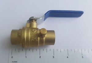 5-PIECES-3-4-034-SWEAT-BALL-VALVE-WITH-DRAIN-AND-CAP-LEAD-FREE-BRASS-600-WOG