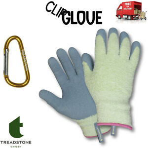 Clip Gloves Ladies Cosy Chenille So Comfortable Around The Garden Size: Medium