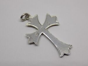VINTAGE/ANTIQUE STERLING SILVER O.C.G CROSS PENDANT. MAKERS F.B&S.  (NCB)