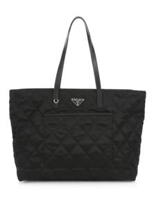 nuevo Prada 8058094500502 bolsa 100 de monedero negro de mano nylon auténtico acolchado bolso x511RE