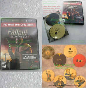 Fallout-New-Vegas-Pre-Order-Promo-Coasters-Set-of-4-Factory-SEALED-in-DVD-Case
