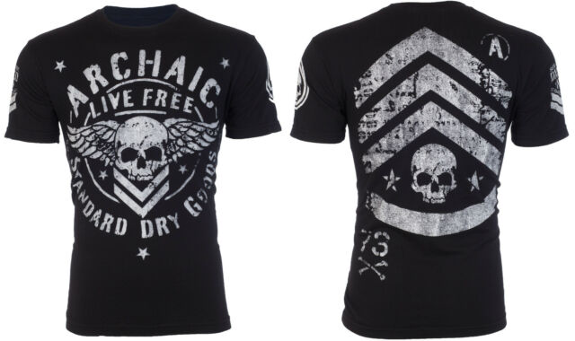 ARCHAIC by AFFLICTION Mens T-Shirt STRONG CREST Motorcycle Biker MMA UFC $40