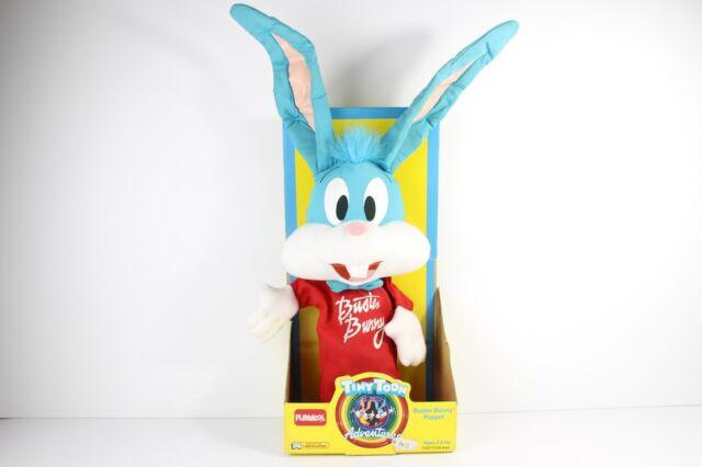 Playskool VTG Tiny Toon Adventures Buster Bunny Warner Bros Plush  1990  Nib